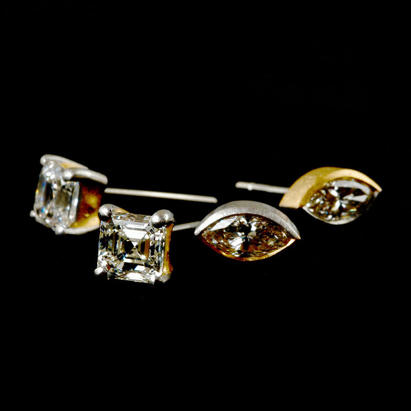 Platinum and 22ct gold Diamond Earrings