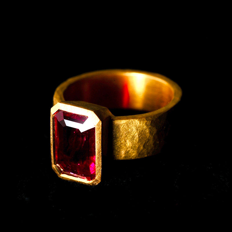 Step Cut Ruby Ring
