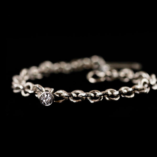 Platinum Link Diamond Bracelet