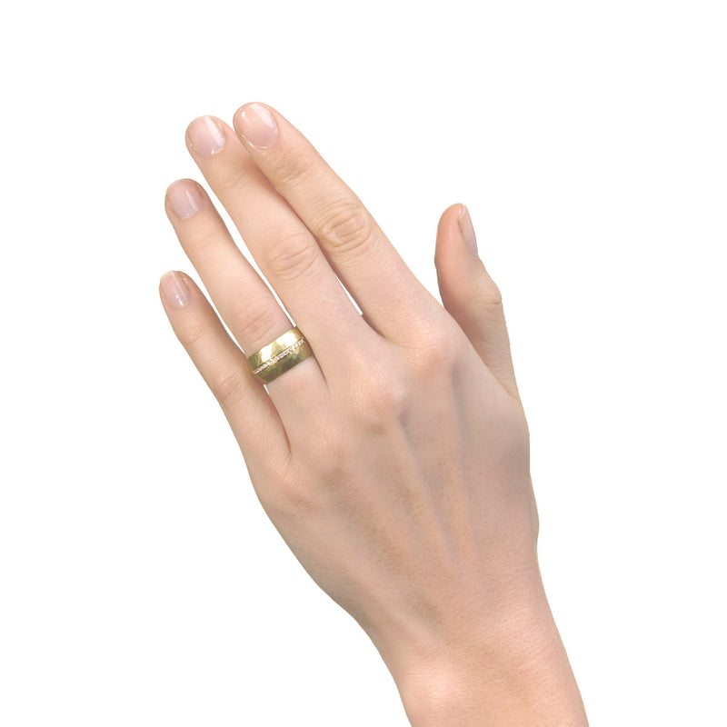 Wide 18ct Gold Eternity Ring