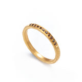 Gold Channel Set Cognac Diamond Ring