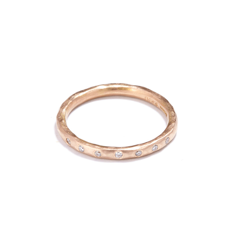 Rose Gold with 7 Diamonds Ring