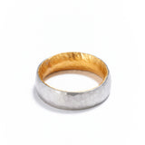 6mm Platinum and Gold Ring