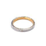 Platinum and Gold Channel Set Diamond Ring
