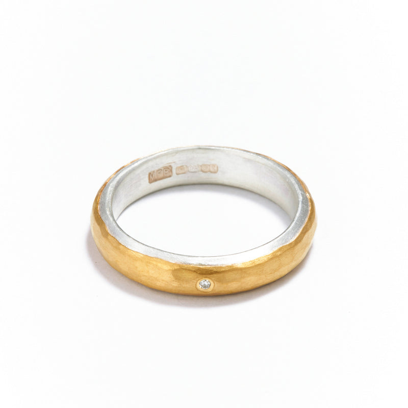 4mm Silver and Gold Ring