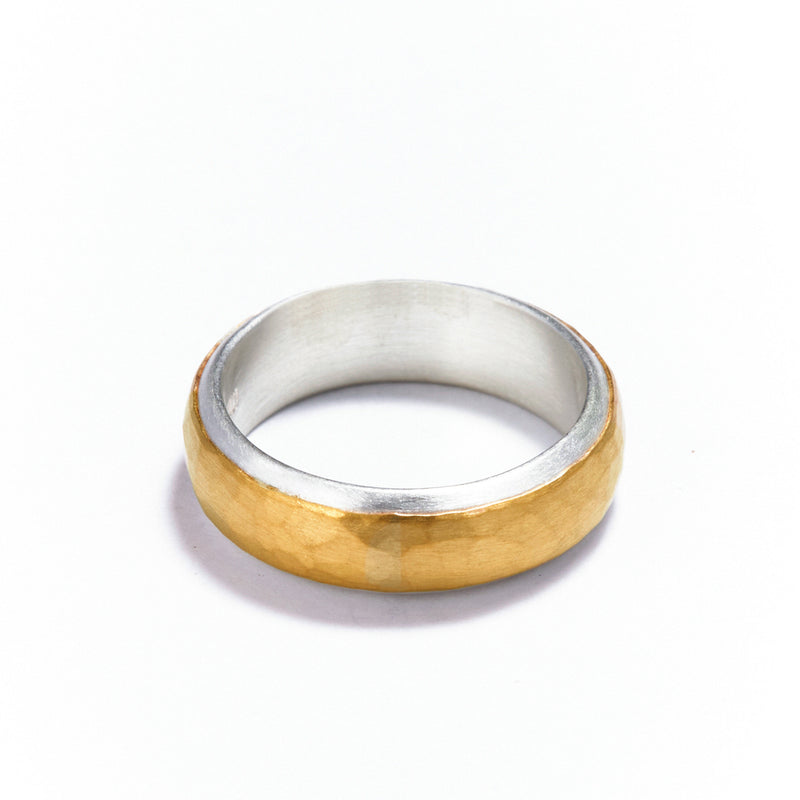 6mm Silver and Gold Ring