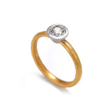 Gold and Platinum Old Cut Diamond  Ring