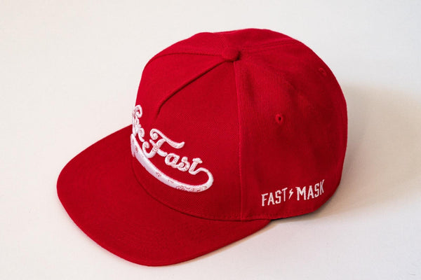 Red Live Fast Snapback Hat