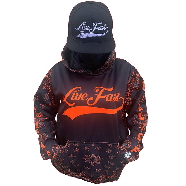 D.I.L.L.I.G.A.F. BLACK & ORANGE SWEATER
