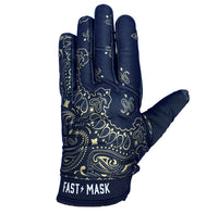 Black & Gold Paisley Fast Mask Motorcycle Gloves