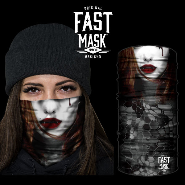 Female Vampire Fleece Face Mask