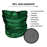 Plain Green Face mask - *Now with Sewn Edges*