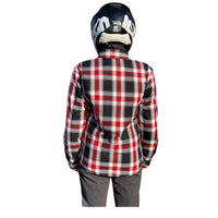 Fast Mask Red Plaid Kevlar Lined Armoured Flannel Shirts