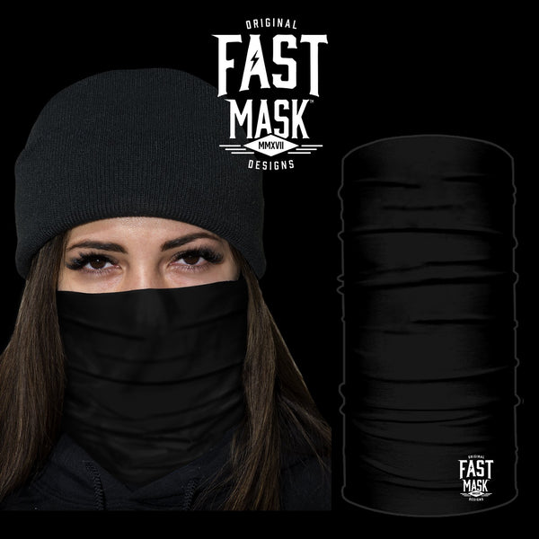 Black Fleece Face Mask