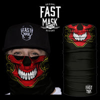 Red Skull Fleece Face Mask