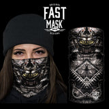 Cyborg Skull Fleece Face Mask