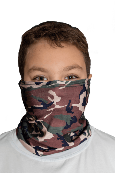 Jr. Woodland Camo Fast Mask * Now with Sewn Edges*