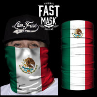 Mexico Flag Fast Mask - *Now with Sewn Edges*