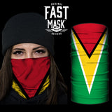 Guyana Flag Fast Mask - *Now with Sewn Edges*