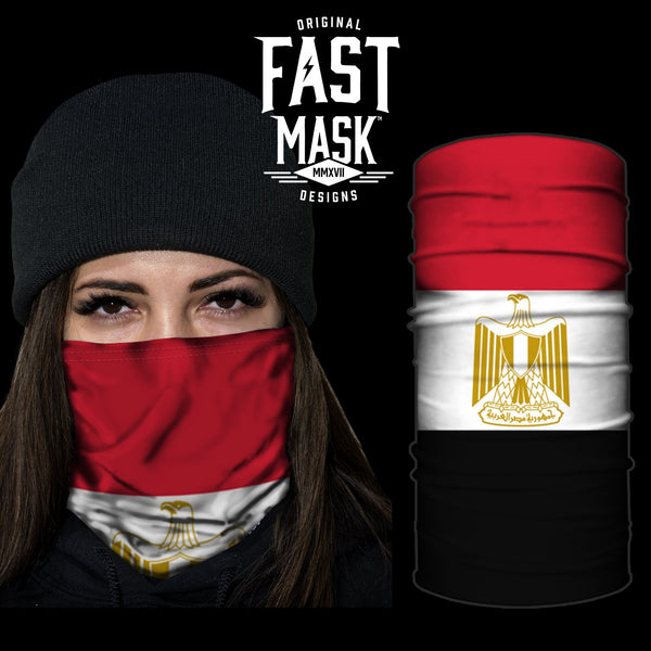 Egypt Flag Fast Mask - *Now with Sewn Edges*