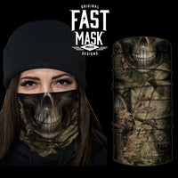 Camo Skull Face mask - Fast Mask * Now With Sewn edges*