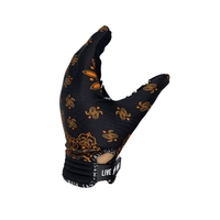 Black & Orange Paisley  Mx & Bike Gloves