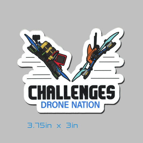 Drone Nation 3.75x3in Challenges Sticker