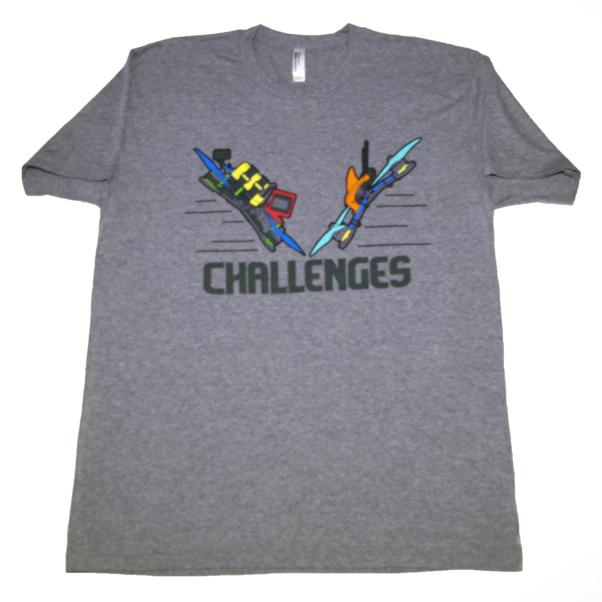 Drone Nation Challenges T-Shirt Gray