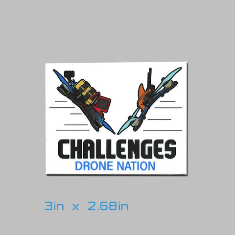 Drone Nation 3x2.7in Challenges Sticker