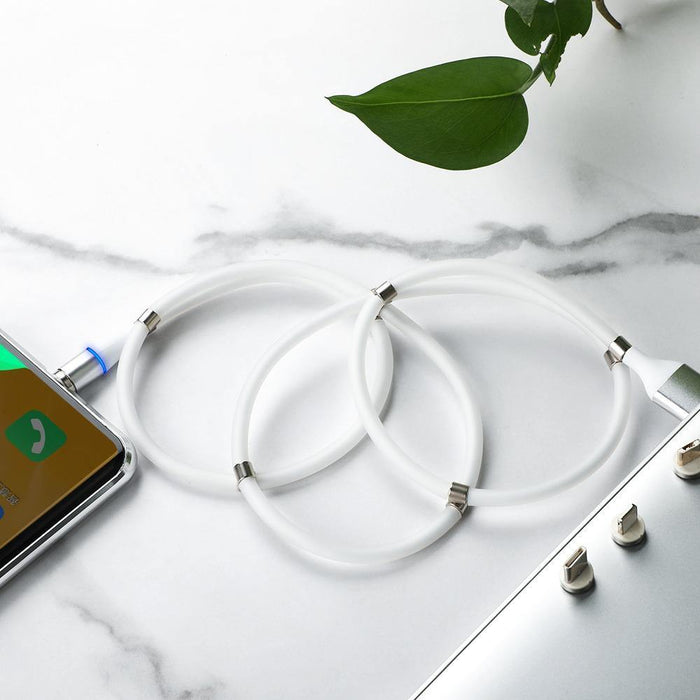 Magnetic Self-Winding USB Charging Cable - aspecttechnology - online shopping - cool gadgets - strong magnets - data cable - iOS - Android