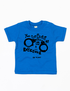 'You Can't Arrest Me I'm A Rock Star' Organic Baby T