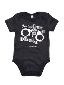 'You Can't Arrest Me I'm A Rock Star' Organic Babygro