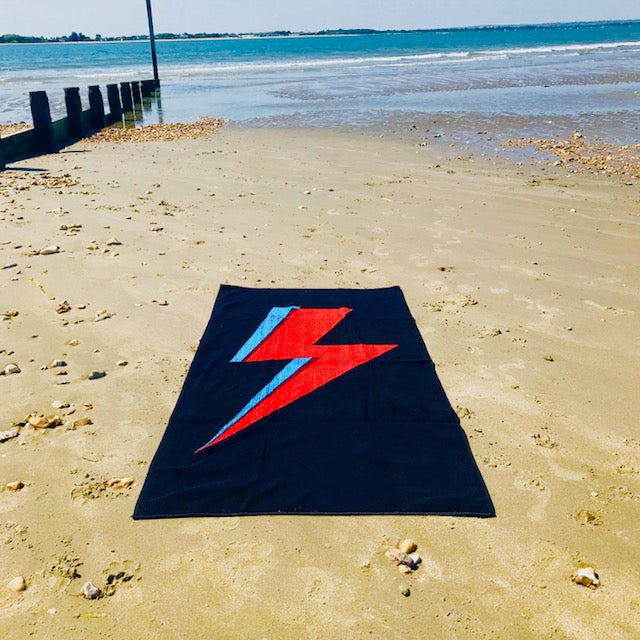 'Bowie Bolt' Luxury Beach Towel