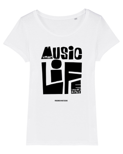 'Without Music Life Would Be A Mistake' Organic Womens T-shirt