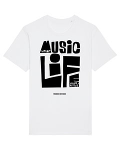 'Without Music Life Would Be A Mistake' Organic Unisex T-shirt