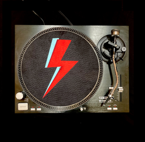 'Bowie Bolt' Turntable Slip Mat