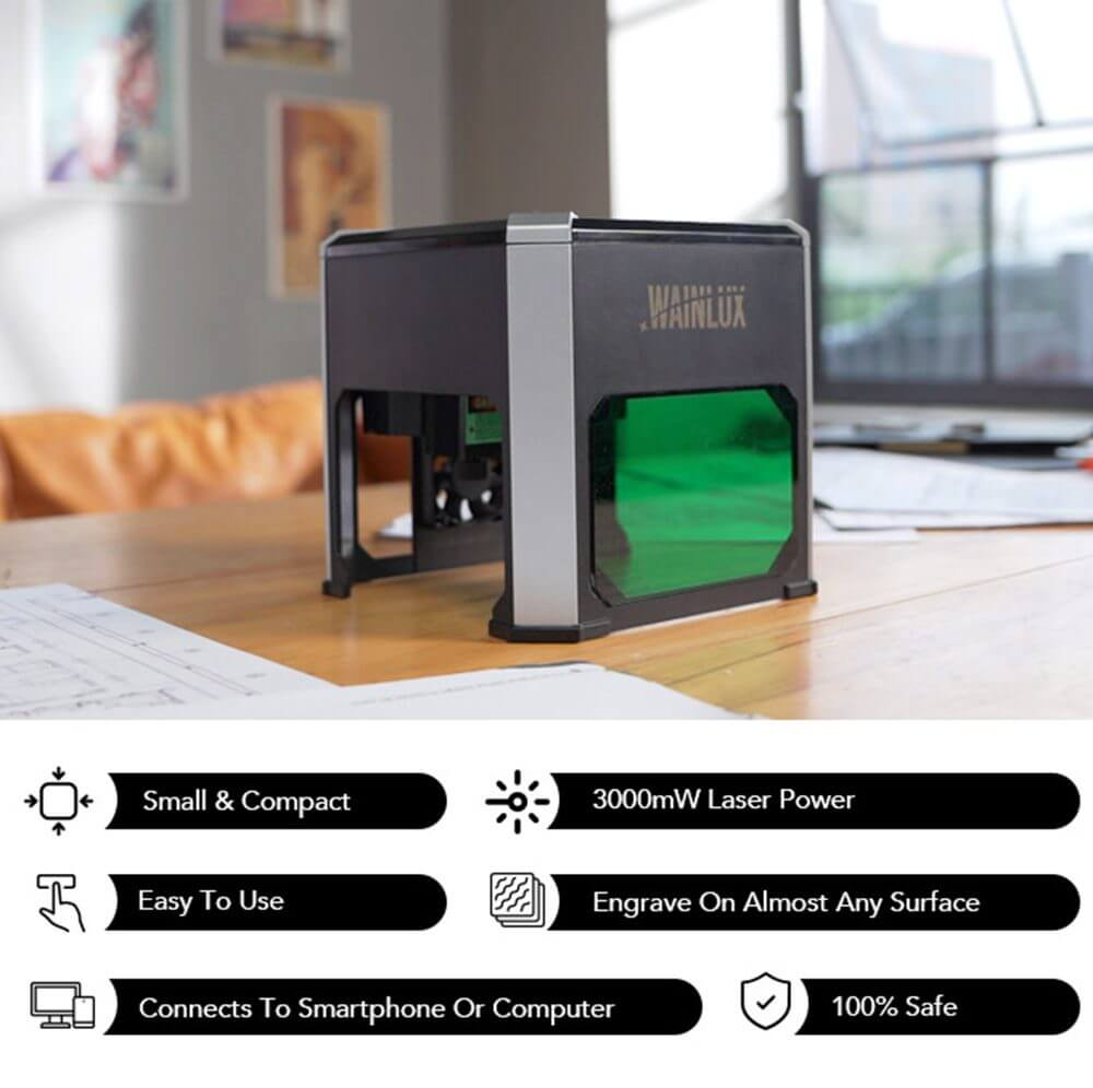 The Most Compact, Powerful and Simple-to-Use Laser Engraver