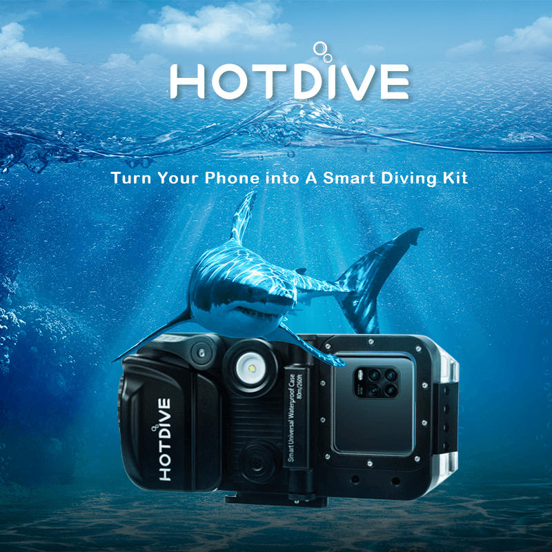 HotDive professional underwater camera: Turn your phone into an all-in-one smart diving kit