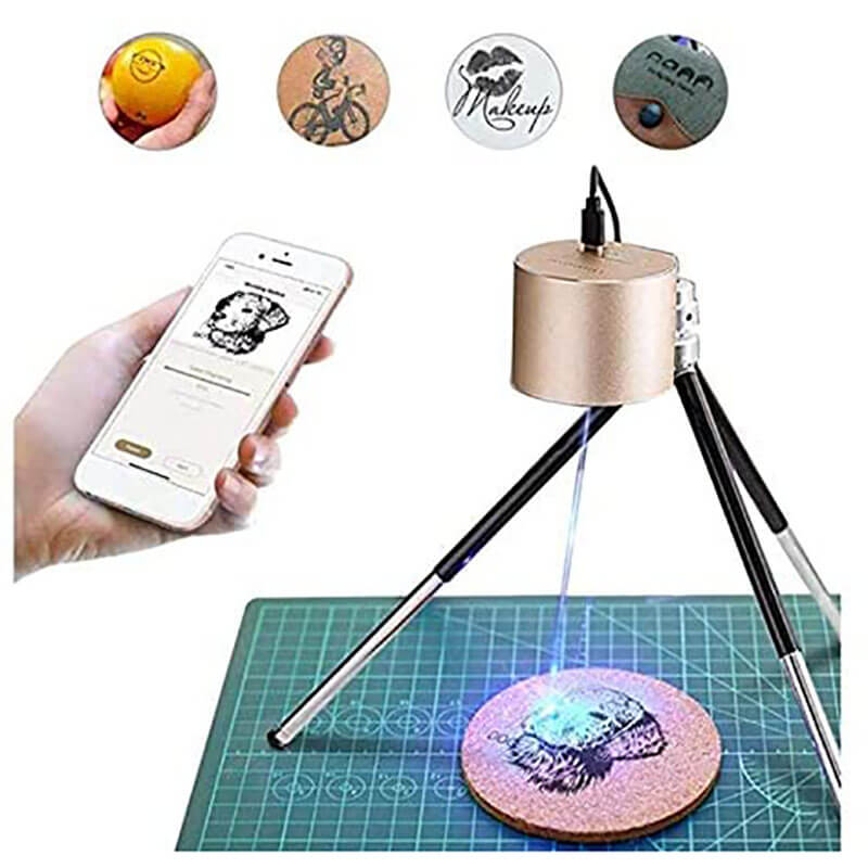 The Smallest Mini Handheld Laser Engraver for DIY Logo Design