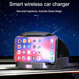 Automatic smart wireless car charger with cooling fan