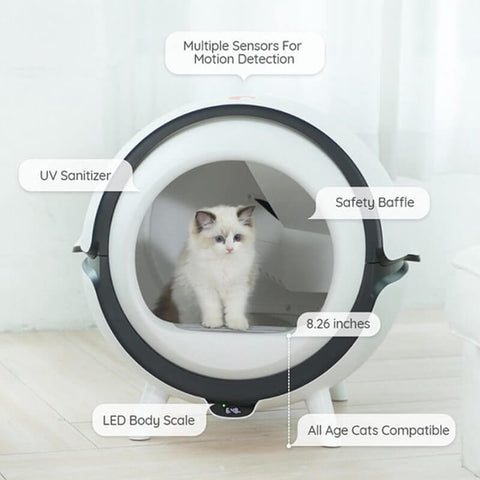 The world's first auto cat litter box with UV sanitizer