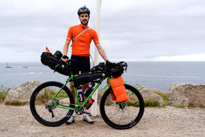 Josh Ibbett at Lands End before the GBDuro