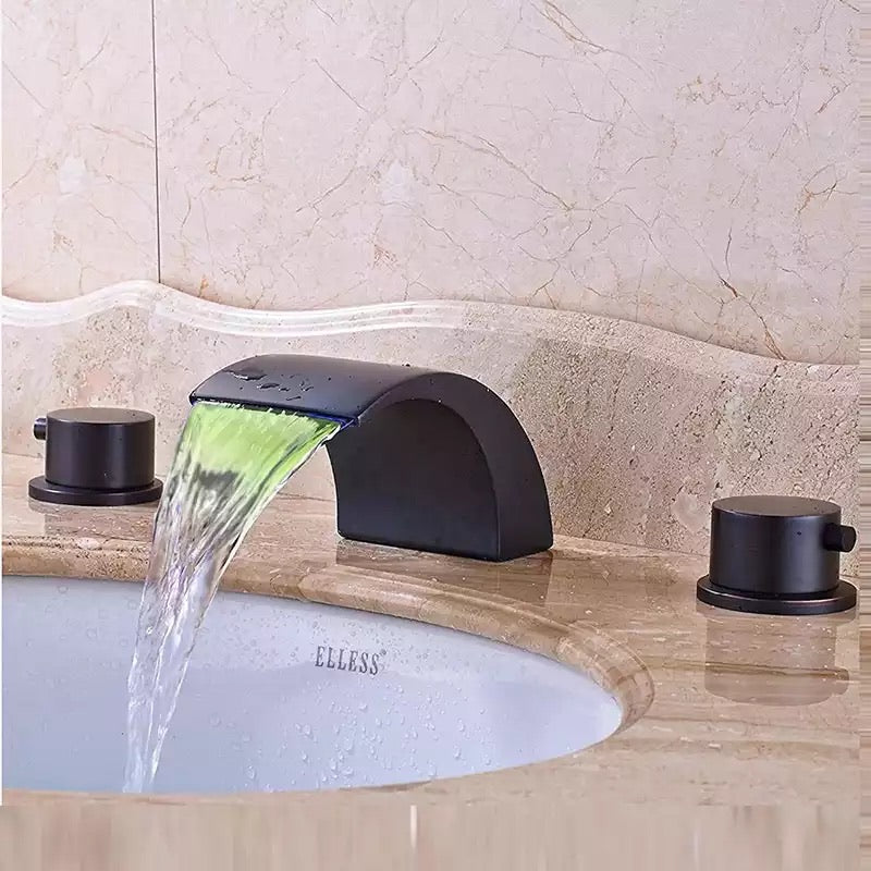 LED Widespread Faucet
