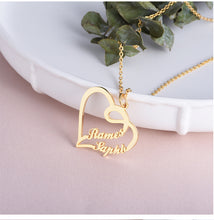 Load image into Gallery viewer, Custom heart shaped letter necklace