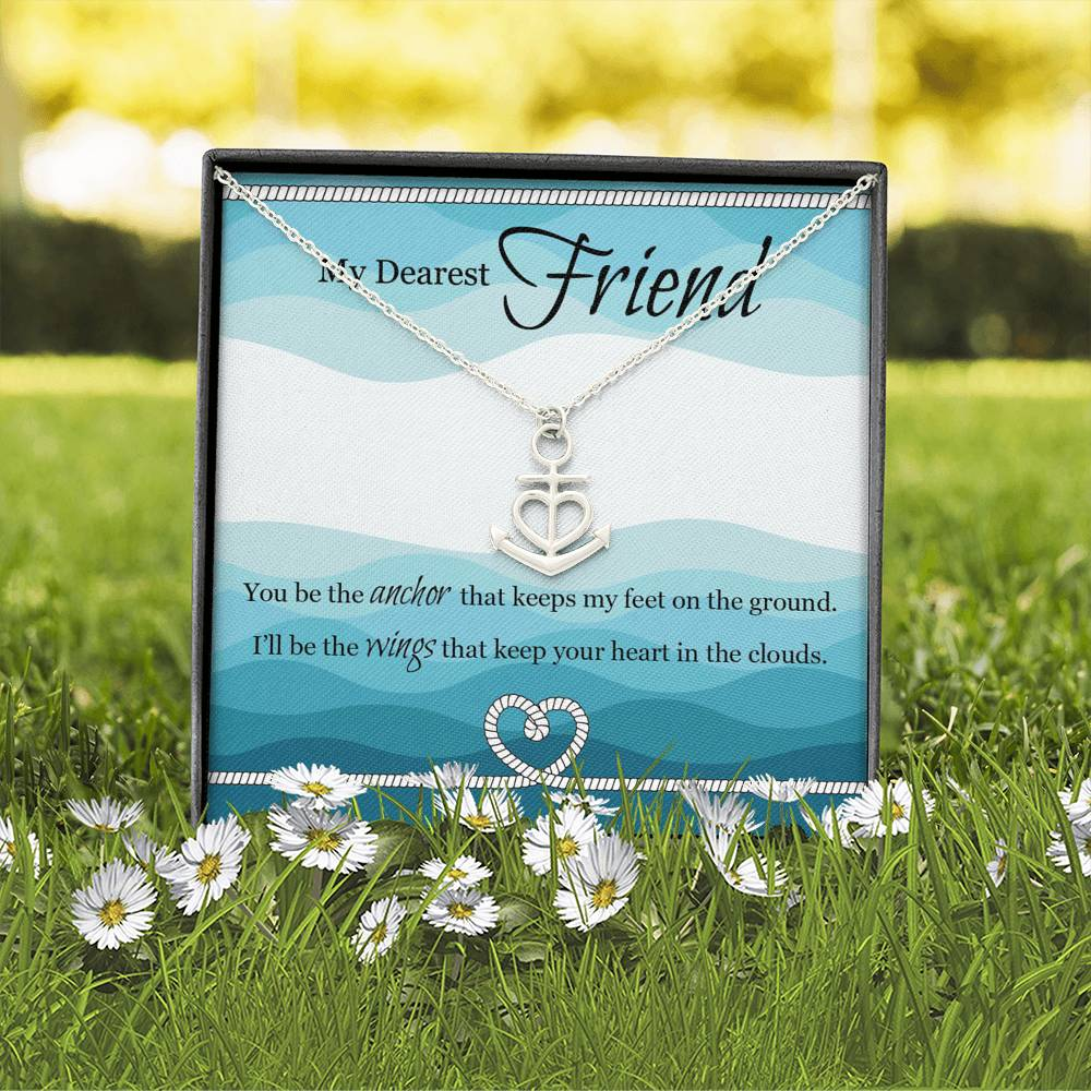 Artisan Crafted Friendship Anchor Pendant with Personalised Message Box