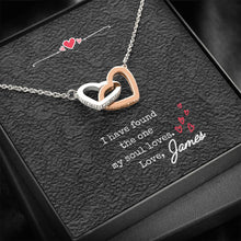 Load image into Gallery viewer, Dainty Double Hearts Cubic Zirconia | Personalized Anniversary Valentine's gift for girlfriend, wife, gift for her
