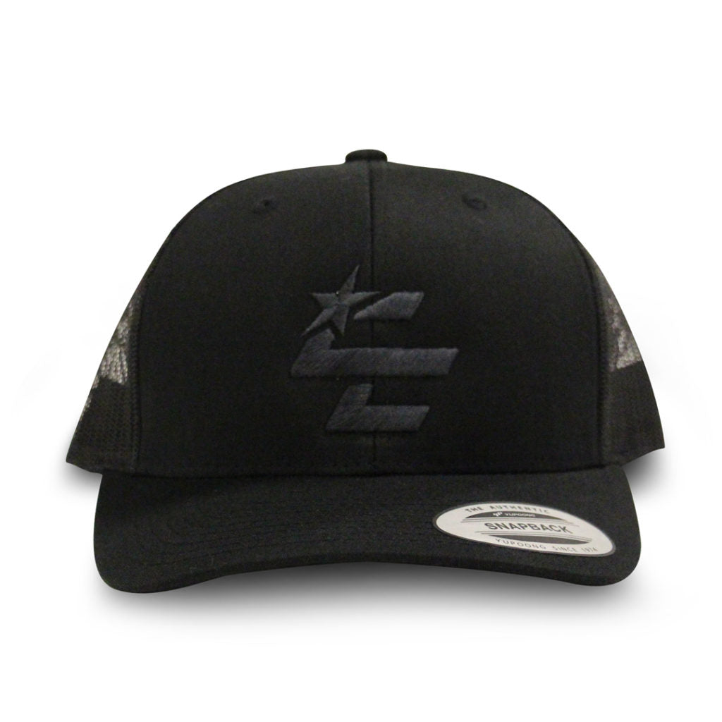 Blacked Out Snapback Hat