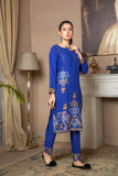 Linen Suit With Embroidery - Two Piece