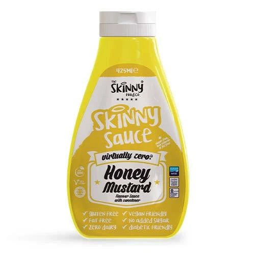 THE SKINNY FOOD CO. Honey Mustard #NotGuilty Virtually Zero® Sugar Free Sauce 425ml