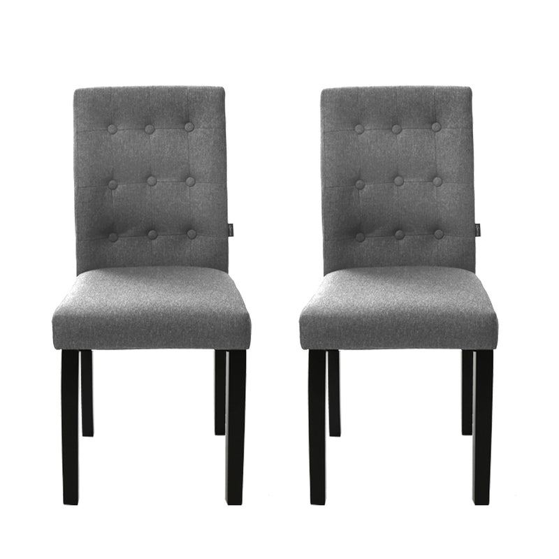 Sinaou Fabric Dining Chairs (Set of 2) - Grey